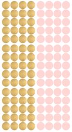 PÖM LE BONHOMME | Muurstickers Stip goud & roze