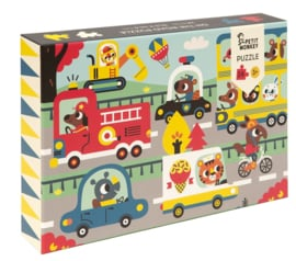 PETIT MONKEY PUZZEL 'ON THE ROAD' 24 STUKS
