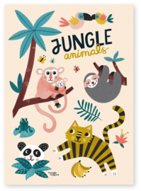 MICHELLE CARLSLUND POSTER JUNGLE ANIMALS