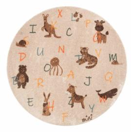 Mad about mats | Vloerkleed alfabet rond