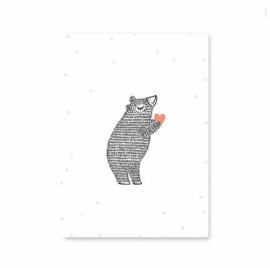 MIJKSJE | Kaart beer met hartje