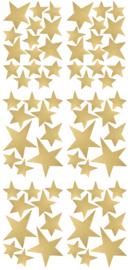 PÖM LE BONHOMME | Muurstickers sterren goud