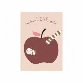 OYOY MINI POSTER LOVE APPLES