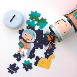 PETIT COLLAGE PUZZEL INTO SPACE 64stuks