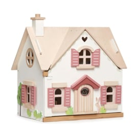 TENDER LEAF TOYS | Poppenhuis cottage - gemeubileerd