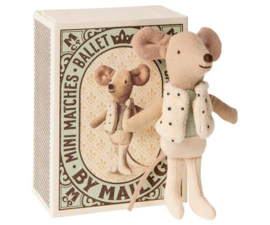 MAILEG | Dansende kleine broer muis in luciferdoosje