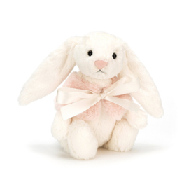 JELLYCAT | Knuffel Bashful cream sneeuw konijn (18cm)