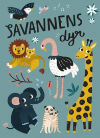 MICHELLE CARLSLUND POSTER SAVANNAH ANIMALS