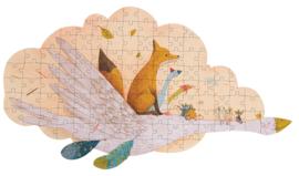 MOULIN ROTY | Puzzel gans en vos met koffer (145 st)