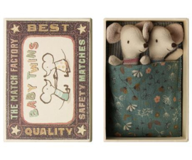 MAILEG | Baby tweeling muisjes in luciferbox