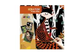 AVENIR | Krasplaatjes Magische dieren (4 st) | Creatief speelgoed