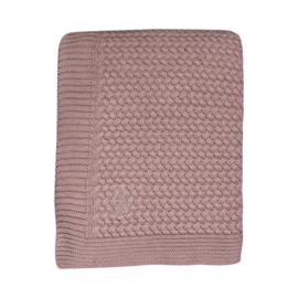 MIES & CO SOFT KNITTED LEDIKANTDEKEN ROZE