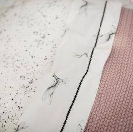 MIES & CO BABYLIFESTYLE | Ledikantdeken gebreid roze