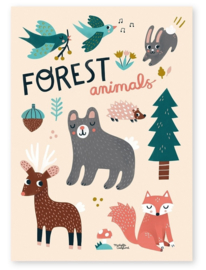 MICHELLE CARLSLUND POSTER FOREST ANIMALS