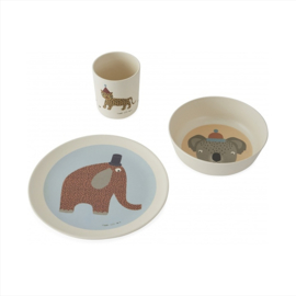 OYOY MINI KINDERSERVIES HATHI DIEREN