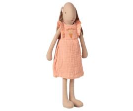 MAILEG | Konijn roze jurk met broekje - size 3 - 42 cm