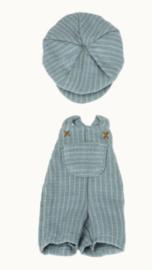 MAILEG   Kleding voor knuffelbeer Teddy junior - Tuinbroek en pet