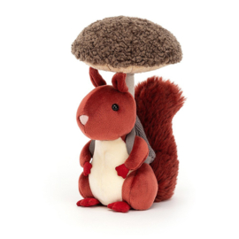 JELLYCAT | Knuffel Fungi Forager Squirrel - eekhoorn