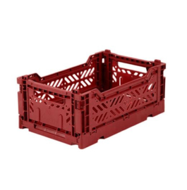 AYKASA FOLDING CRATE | Mini box - Tile red