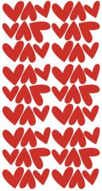 PÖM LE BONHOMME | Muurstickers hartjes rood