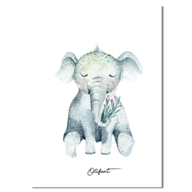 DESIGN CLAUD | Poster olifant A4