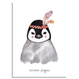 DESIGN CLAUD AQUAREL POSTER PINGUIN A4