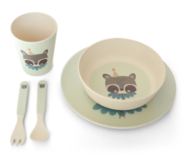 EEF LILLEMOR BAMBOO SERVIES CIRCUS RACCOON SET