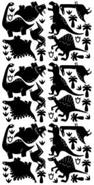 PÖM LE BONHOMME | Muurstickers dinosaurus zwart