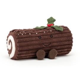 JELLYCAT | Knuffel Amuseable Yule loge - kerstboomstammetje