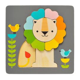 PETIT COLLAGE | Houten puzzel leeuw