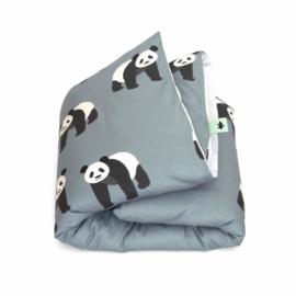 STUDIO DITTE | Panda dekbedovertrek  - 1 persoon