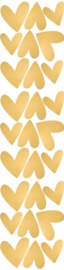 PÖM LE BONHOMME | Muurstickers hartjes goud