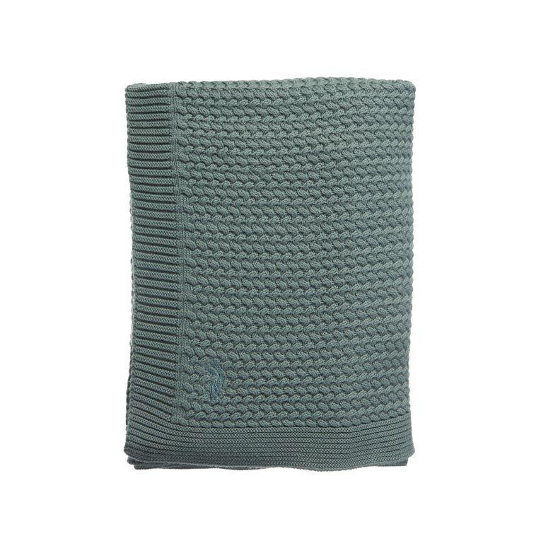 MIES & CO BABYLIFESTYLE | Ledikantdeken soft knitted deep forrest