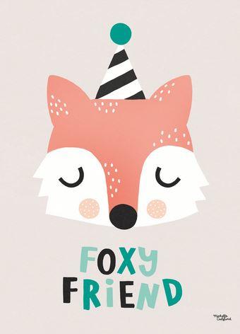 MICHELLE CARLSLUND | Poster vos 'Foxy friend'
