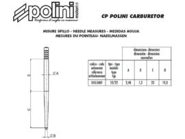 Polini aguille carburateur CP,  12/22