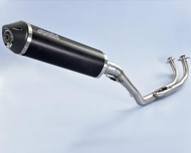 Polini uitlaatsysteem Yamaha T-max 530  DX-SX 'aluminium black'