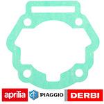 Voetpakking cilinder derbi bromfiets, motorblok D50B0 met interne koeling. (orig.)
