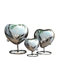 Aluminium spiegel hart incl. standaard met  pootjes 10729