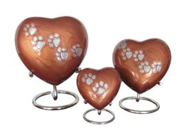 Aluminium hart orange bruin  met pootjes incl. standard 10623