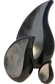Aluminium Elegance Urn Hammered Black 3245