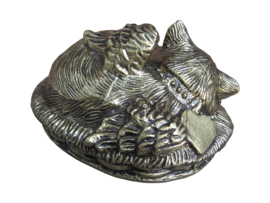 Resting Cat Brass Antique 10598-CA