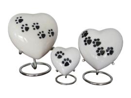 Aluminium hart ( Gespoten) kleur Wit  met zwarte pootjes incl. standaard  10619