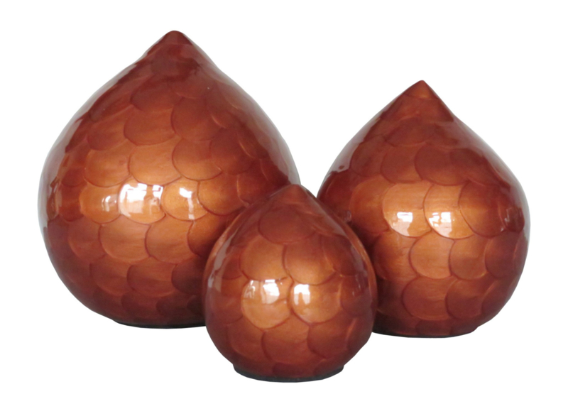 Tear Drop Orange Brown 10652 ( zonder pootjes )