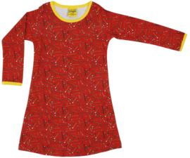 Duns jurkje - rood met potloden