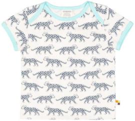 Loud+Proud tshirt - blauwe luipaarden