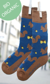 Badstof kinder sokjes - eekhoorns