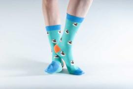 Doris & Dude sokken - blauwe papegaaiduikers