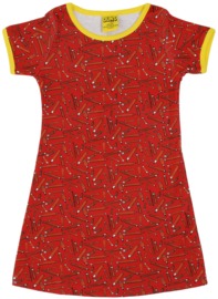 Duns jurkje - rode potloden