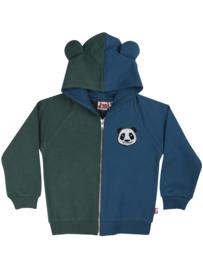 Kinder vest - blauw groen panda