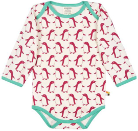 Loud+Proud romper - roze pinguins